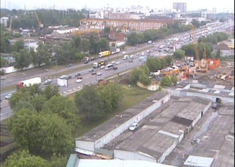 Webcam Moscow with views to Borovsky highway