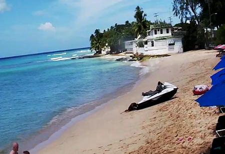 Webcam Barbados, Mullins Beach