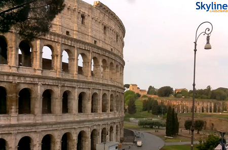 The Coliseum in Rome in Italy