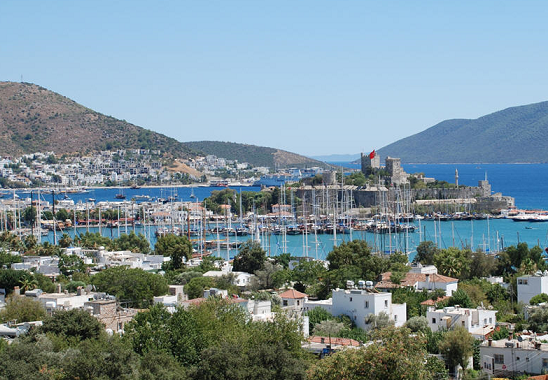 Panorama of Bodrum in Turkey
